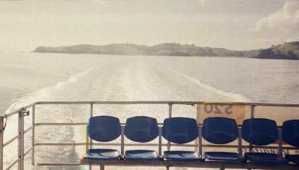 [ Looking back from the ferry leaving Waiheke ]